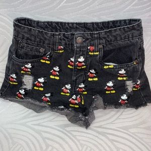 Forever 21 disney mickey Jean Shorts 24